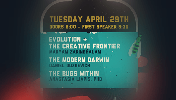 Flyer for April 29th Event at Empiricist. Click to open full size flyer.