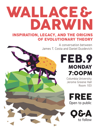 Flyer for February 9th, 2015 event at Columbia University. Click to open full size flyer.